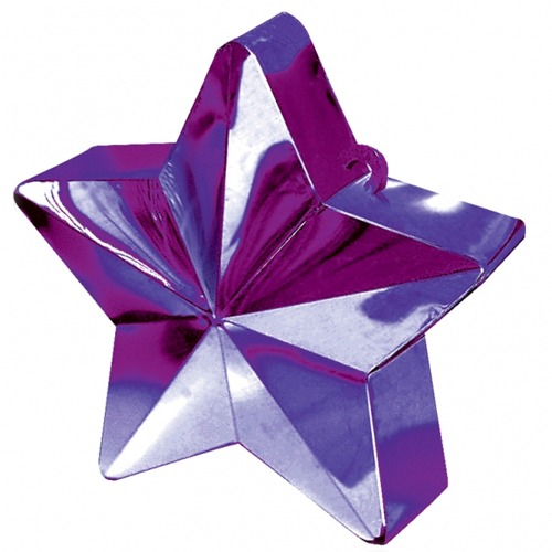 Purple Star Balloon Weight 6oz