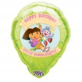 "18"" Dora Birthday Personalised Balloons"