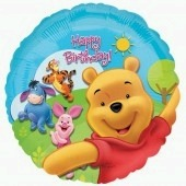 "18"" Pooh And Friends Sunny Birthday Foil Balloons"