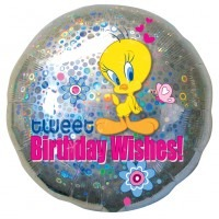 "18"" Tweety Happy Birthday Wishes Foil Balloons"