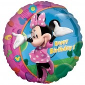 "18"" Minnie Happy Birthday Foil Balloons"