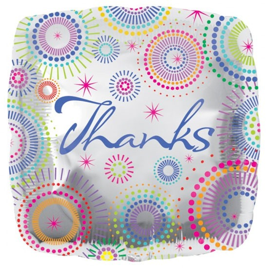 "18"" Thanks Dots Foil Balloons"