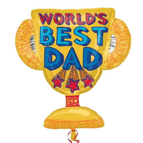 Best Dad Trophy Supershape Balloons
