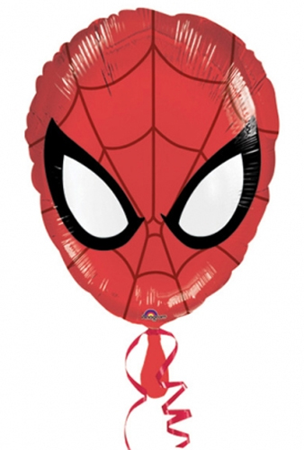 "18"" Spiderman Head Foil Balloons"