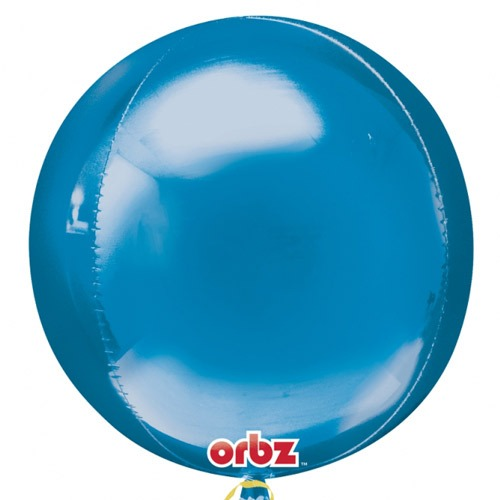 Blue Colour Orbz Foil Balloons 3pk