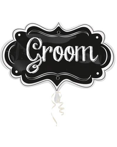 Groom Chalkboard Marquee Supershape Balloons
