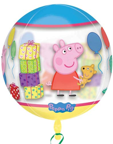Peppa Pig Clear Orbz Balloons