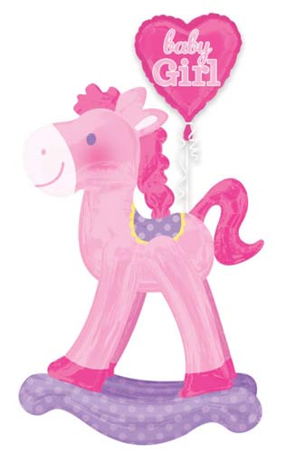 Rocking Horse Baby Girl Air Walkers