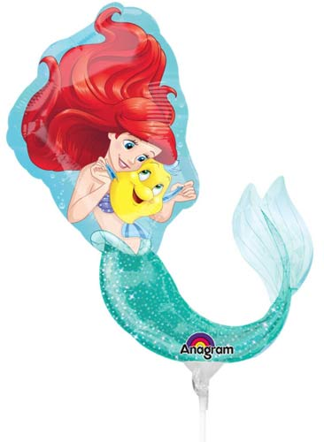 "9"" Ariel Dream Big Mini Shape Foil Balloons"