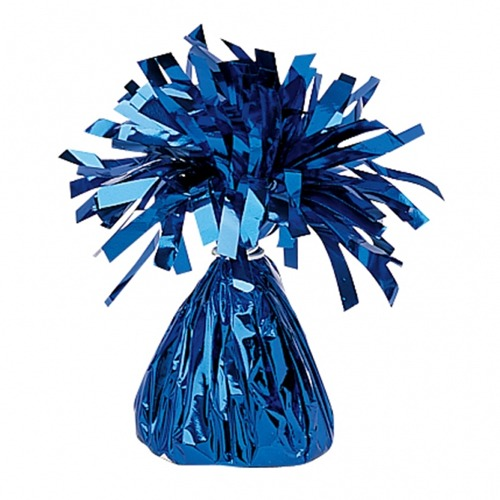 Blue Fringed Foil Balloon Weights 6oz
