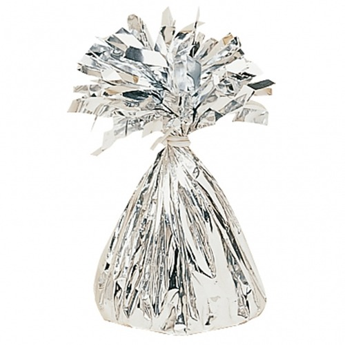 Silver Fringed Foil Balloon Weights 6oz