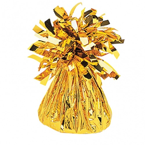 Gold Fringed Foil Balloon Weights 6oz