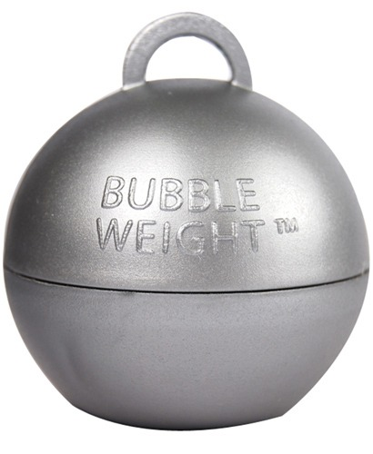 Silver Bubble Balloon Weights