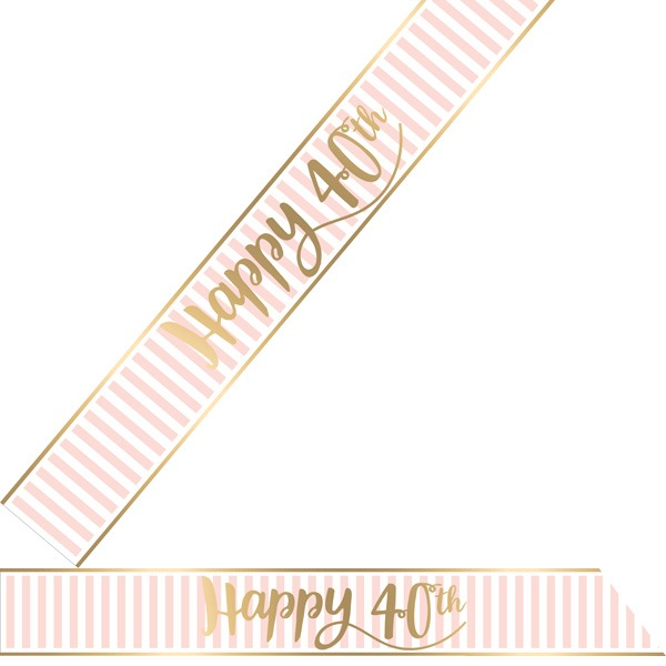 Happy 40th Pink Chic Sash