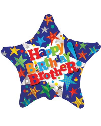 "18"" Happy Birthday Brother Foil Balloons"