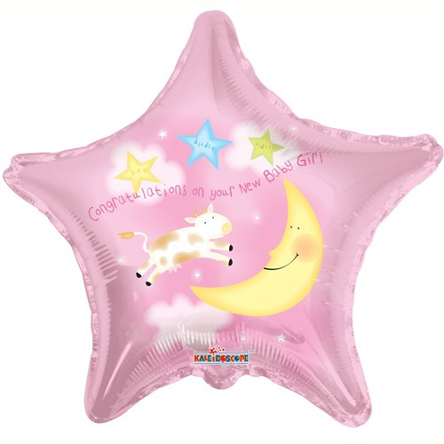 "18"" Congratulations New Baby Girl Foil Balloons"