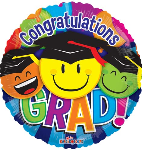 "18"" Graduation With Smiles Foil Balloons"