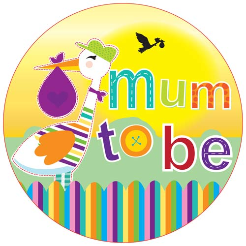 Mum To Be Giant Party Badge