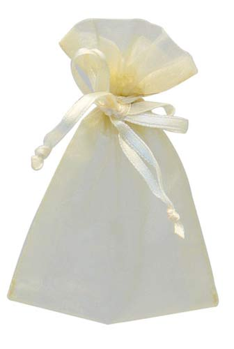 Cream Organza Favour Bags 10pk