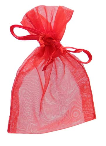 Red Organza Favour Bags 10pk