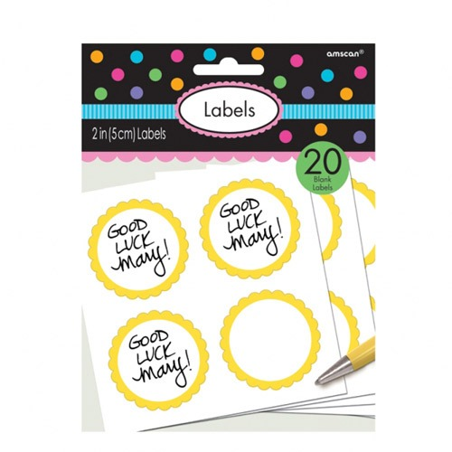 Sun Yellow Scalloped Labels