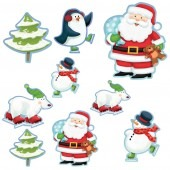 Amscan Whimsical Christmas Character Assorted Cutouts x12