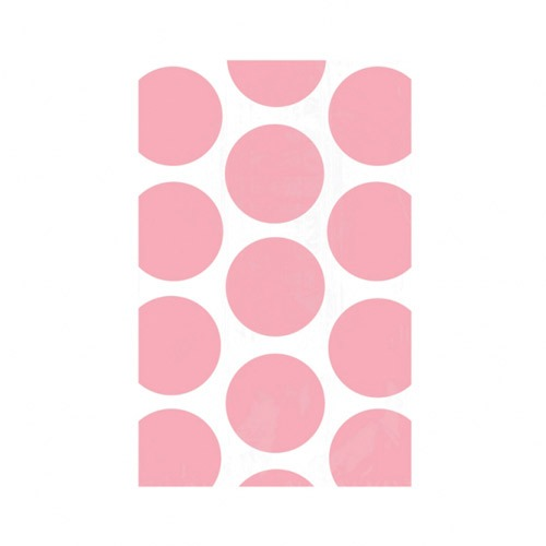 Light Pink Candy Polka Dots Treat Bags x10