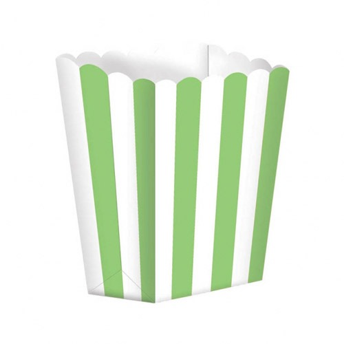 Kiwi Green Candy Buffet Popcorn Treat Boxes x5