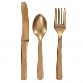 Gold Assorted Cutlery 24pk