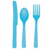 Caribbean Blue Assorted Cutlery 24pk