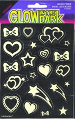 Glow In The Dark Stickers x1 Sheet