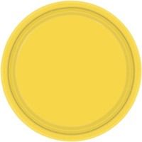 Sunshine Yellow Paper Plates 8pk