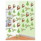 Snowman and Santa String Decorations