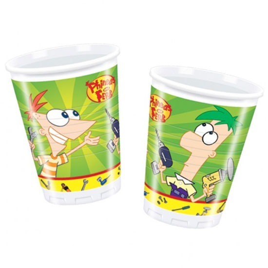 Phineas And Ferb 180ml Plastic Cups x10