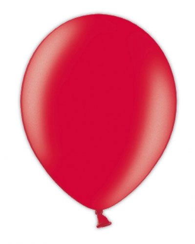 "5"" Passion Red Metallic Latex Balloons 100pk"