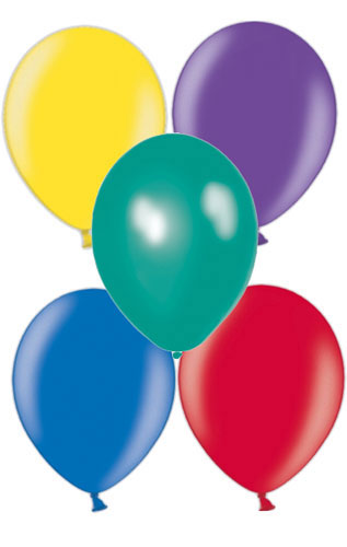 "11"" Metallic Dark Assorted Latex Balloons 50pk"
