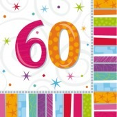 Radiant 60th Birthday Luncheon Napkins x16
