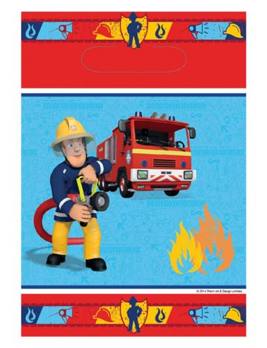 Fireman Sam Comic Party Bags 8pk