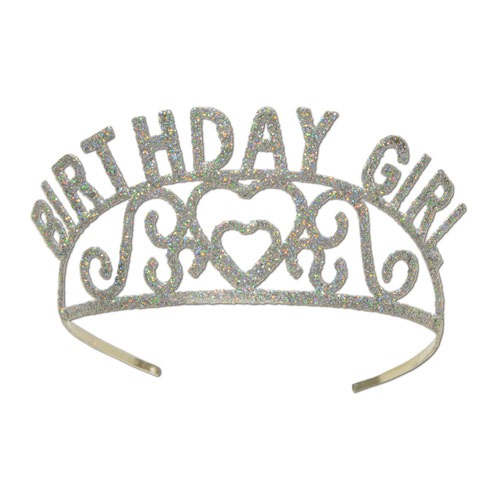Birthday Girl Glitter Tiaras