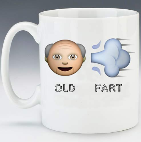 Old Fart Emoji Mugs