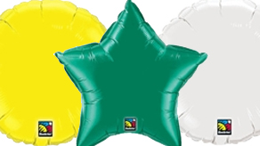 Plain Round and Stars Balloons