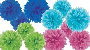 Fluffy Paper Decorations