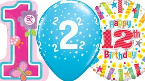Childrens Age Balloons
