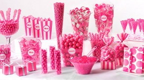 Bright Pink Candy Buffet