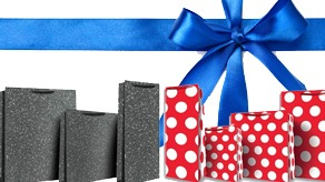 Dots And Plain Gift Bags