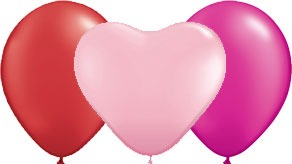 Valentine Plain Latex Balloons