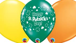 St Patricks Latex Balloons