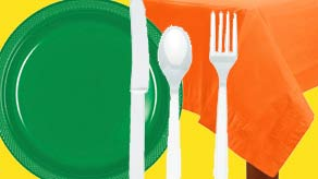 St Patricks Tableware