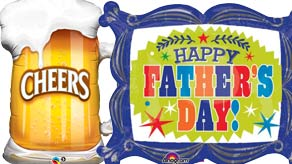 Fathers Day Shape Balloons