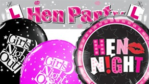 Hen Night Balloons and Banners
